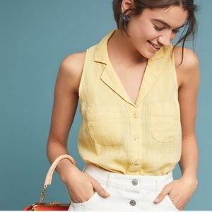 New Anthro Maeve Felicity Sleeveless Linen Top 6